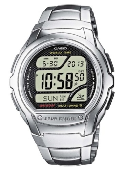 Casio Wave Ceptor Herrenarmbanduhr WV-58DE-1AVEF, Funkuhr, schwarz, massives Edelstahlarmband - 1