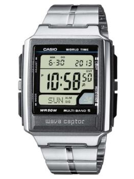 Casio Wave Ceptor Herrenarmbanduhr WV-59DE-1AVEF, Funkuhr, schwarz, massives Edelstahlarmband - 1