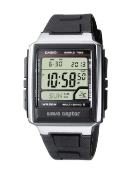 Casio Wave Ceptor Herrenarmbanduhr WV-59E-1AVEF, Funkuhr, schwarz, massives Edelstgehäuse und Resinarmband - 1