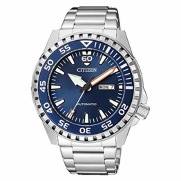 Citizen Herren Analog Automatik Uhr mit Edelstahl Armband NH8389-88LE - 1