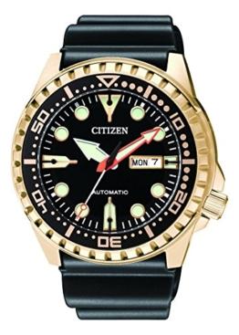 Citizen Herren Analog Mechanisch Uhr mit Kunststoff Armband NH8383-17EE - 1