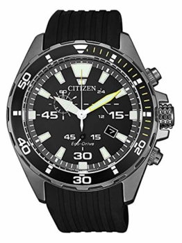 Citizen Herren Analog Quarz Uhr mit Kunststoff Armband AT2437-13E - 1