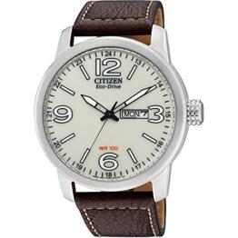 Citizen Herren Analog Quarz Uhr mit Leder Armband BM8470-03AE - 1