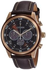 Citizen Herren Analog Quarz Uhr mit Leder Armband CA4037-01W - 1