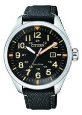 Citizen Herren Analog Quarz Uhr mit Nylon Armband AW5000-24E - 1