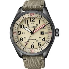 Citizen Herren Analog Quarz Uhr mit Nylon Armband AW5005-12X - 1