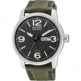 Citizen Herren Analog Quarz Uhr mit Nylon Armband BM8470-11EE - 1