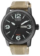 Citizen Herren Analog Quarz Uhr mit Nylon Armband BM8476-23EE - 1