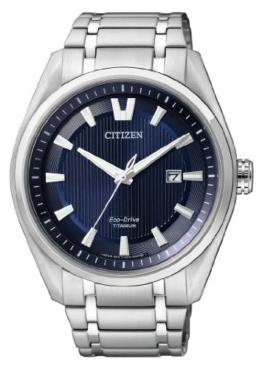 Citizen Herren Analog Quarz Uhr mit Titan Armband AW1240-57L - 1