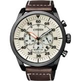 Citizen Herren Chronograph Quarz Uhr mit Leder Armband CA4215-04W - 1