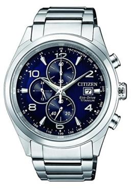 Citizen Herren Chronograph Solar Uhr mit Titan Armband CA0650-82L - 1