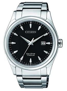 Citizen Herren Datum klassisch Solar Uhr mit Titan Armband BM7360-82E - 1