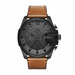 Diesel Herren Analog Automatik Uhr mit Leder Armband DZ4463 - 1