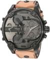Diesel Herren Chronograph Quarz Uhr mit Leder Armband DZ7406 - 1