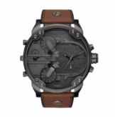Diesel Herren Chronograph Quarz Uhr mit Leder Armband DZ7413 - 1