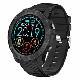 【Neuste Modell】 Antimi Smartwatch, Bluetooth Smart Watch Fitness Tracker Armband Sport Uhr Pulsuhren Schrittzähler Schlafmonitor mit IP68 Wasserdicht Schwimmen Blutdruckmessung für iOS Android - 1