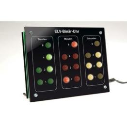 ELV Binär-Uhr BU 1, Komplettbausatz mit Frontplatte (ohne DCF-Modul) - 1
