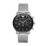 Emporio Armani Herren Analog Quarz Uhr mit Edelstahl Armband AR11104 - 1