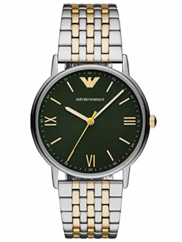 Emporio Armani Herren Analog Quarz Uhr mit Edelstahl Armband AR11228 - 1