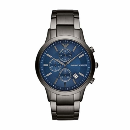 Emporio Armani Herren Chronograph Quarz Uhr mit Edelstahl Armband AR11215 - 1