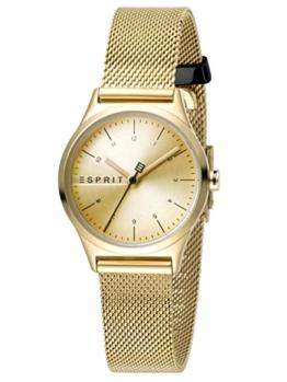 Esprit Damen Analog Quarz Uhr mit Edelstahl Armband ES1L052M0065 - 1