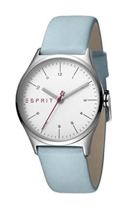 Esprit Damen Analog Quarz Uhr mit Leder Armband ES1L034L0015 - 1