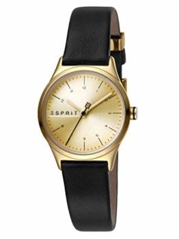 Esprit Damen Analog Quarz Uhr mit Leder Armband ES1L052L0025 - 1