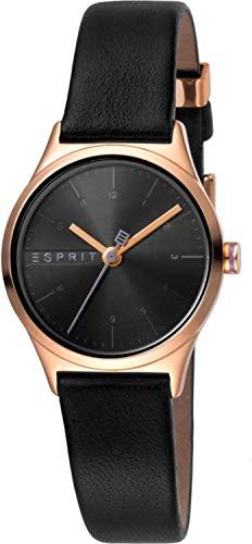 Esprit Damen Analog Quarz Uhr mit Leder Armband ES1L052L0035 - 1