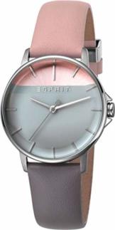 Esprit Damen Analog Quarz Uhr mit Leder Armband ES1L065L0015 - 1