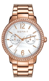 Esprit Damen-Armbanduhr Kate Analog Quarz Edelstahl beschichtet ES108092003 - 1