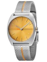 Esprit Damenuhr Spectrum Orange Stripe Mesh 5 Bar Analog Edelstahl Silber ES-3546 - 1