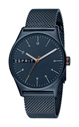 Esprit Herren Analog Quarz Uhr mit Edelstahl Armband ES1G034M0095 - 1