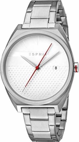 Esprit Herren Analog Quarz Uhr mit Edelstahl Armband ES1G056M0055 - 1