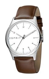 Esprit Herren Analog Quarz Uhr mit Leder Armband ES1G034L0015 - 1