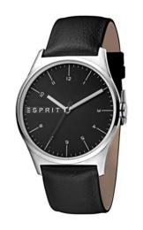 Esprit Herren Analog Quarz Uhr mit Leder Armband ES1G034L0025 - 1