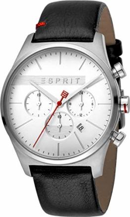 Esprit Herren Chronograph Quarz Uhr mit Leder Armband ES1G053L0015 - 1