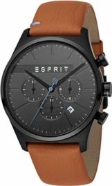 Esprit Herren Chronograph Quarz Uhr mit Leder Armband ES1G053L0035 - 1