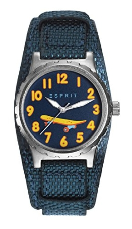 Esprit Jungen Analog Quarz Smart Watch Armbanduhr mit Nylon Armband ES906534003 - 1