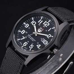 FENKOO Herren/Damen / Kinder Sportuhr/Militäruhr / Kleideruhr/Armbanduhr Quartz Nachts Leuchtend Stoff Band Vintage/BequemSchwarz / Blau (schwarz) - 1