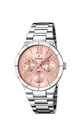 Festina Damen Analog Quarz Uhr mit Edelstahl Armband F16716/3 - 1