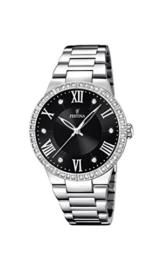 Festina Damen Analog Quarz Uhr mit Edelstahl Armband F16719/2 - 1