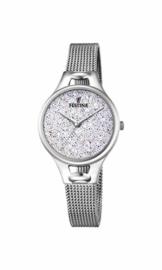 Festina Damen Analog Quarz Uhr mit Edelstahl Armband F20331/1 - 1