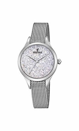 Festina Damen Analog Quarz Uhr mit Edelstahl Armband F20336/1 - 1