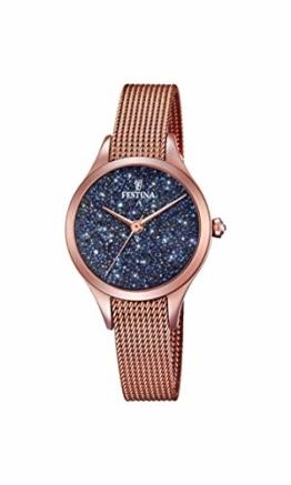 Festina Damen Analog Quarz Uhr mit Edelstahl Armband F20338/3 - 1
