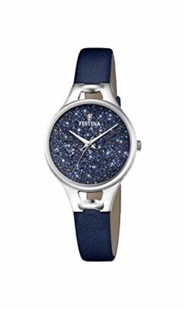 Festina Damen Analog Quarz Uhr mit Leder Armband F20334/2 - 1