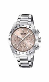 Festina Damen Chronograph Quarz Uhr mit Edelstahl Armband F20397/3 - 1