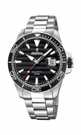 Festina Herren Analog Quarz Uhr mit Edelstahl Armband F20360/2 - 1
