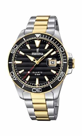 Festina Herren Analog Quarz Uhr mit Edelstahl Armband F20362/2 - 1