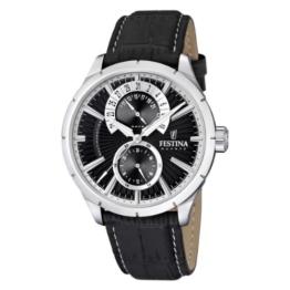 Festina Herren Analog Quarz Uhr mit Leder Armband F16573/3 - 1