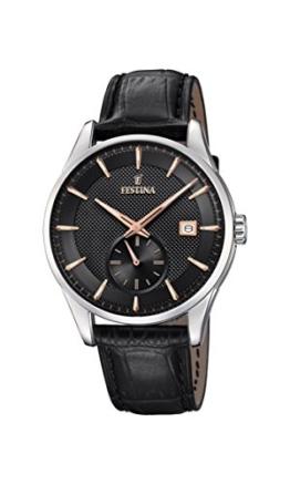 Festina Herren Analog Quarz Uhr mit Leder Armband F20277/4 - 1